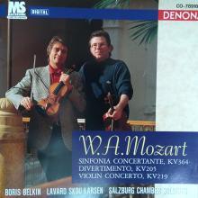 Mozart Violinkonzerto, Divertimento